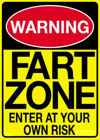 fart zone warning sign