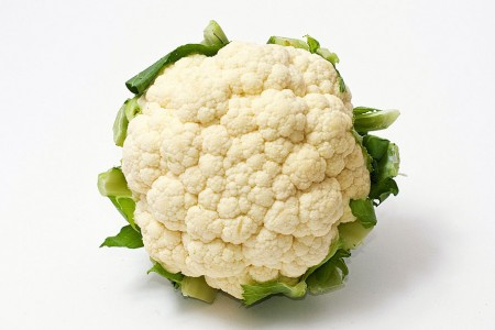 Once living cauliflower now dead.