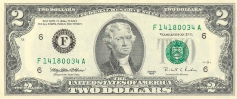 You might even find a two dollar bill.