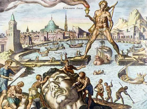 Penis of the Colossus of Rhodes would have measured over 8 feet at full length.